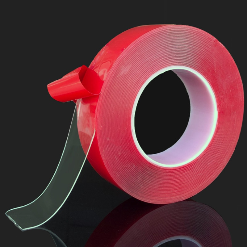 Red-Transparent-Silicone-Double-Sided-Tape-Sticker-For-Car-High-Strength-High-Strength-No-Traces-Adhesive